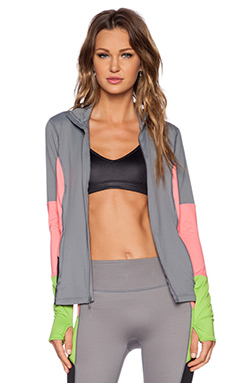 SPANX Mod Bod Jacket in Cool Gray & Hot Peach