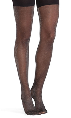 SPANX Metallic Luxe Tights in Black Silver