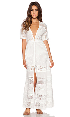 Spell & The Gypsy Collective Sahara Lace Duster in Off White