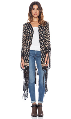 Spell & The Gypsy Collective Tassel Kimono in Charcoal