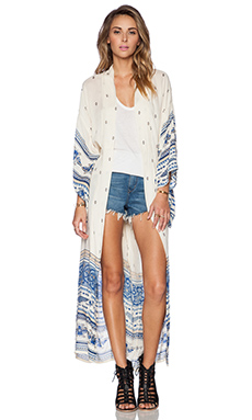 Spell & The Gypsy Collective Thunderbird Maxi Kimono in Multi