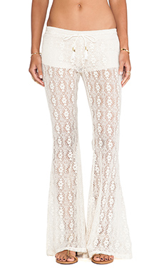 Spell & The Gypsy Collective Phoenix Lace Flares in Cream