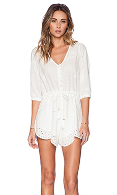 Spell & The Gypsy Collective Casablanca Playsuit in White