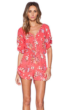 Spell & The Gypsy Collective Sundance Playsuit in Red