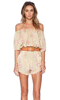 Spell & The Gypsy Collective Sundance Off The Shoulder Romper in Safron