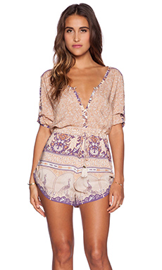 Spell & The Gypsy Collective Xanadu Playsuit in Gold Dust