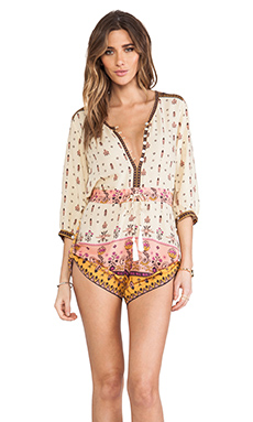 Spell & The Gypsy Collective Desert Wanderer Playsuit in High Moon