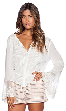 Spell & The Gypsy Collective Savannah Blouse in Off White