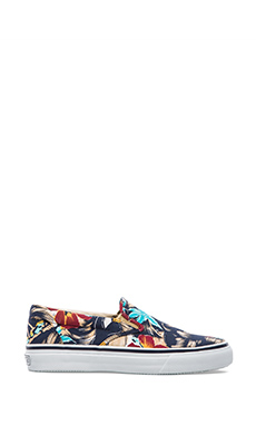 Sperry Top-Sider Striper Slip On in Navy Print