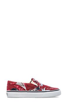 Sperry Top-Sider Striper Slip On en Imprimé Rouge