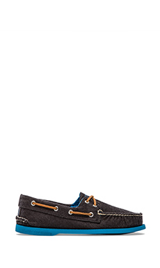 Sperry Top-Sider A/O 2-Eye Soft Canvas in Black & Blue