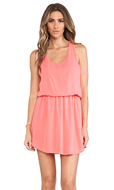 Splendid Tank Dress in Coral Pink
