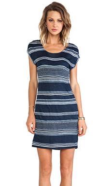 Splendid Safari Stripe Dress in Navy