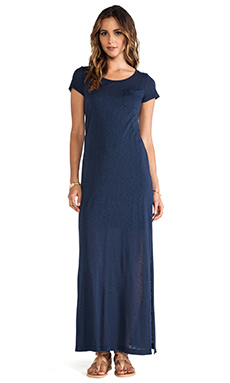 Splendid Always Tee Maxi Dress in Navy