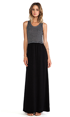 Splendid Tiered Maxi Dress in Black