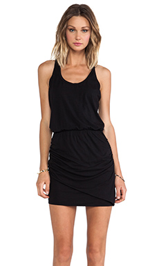 Splendid Ruched Dress in Black