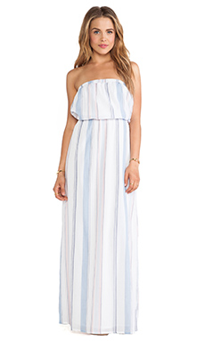 Splendid Canyondale Stripe Maxi in Chambray/Apricot