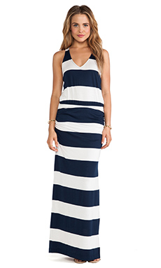 Splendid Luna Lake Stripe Maxi Dress in Navy