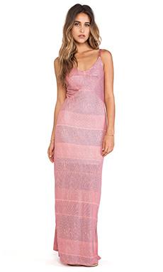 Splendid Textured Ink Stripe Maxi Dress in Desert Rose