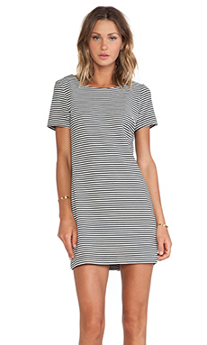 Splendid Belmont Stripe Dress in Black