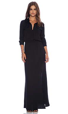 Splendid Rayon Twill Dress in Black