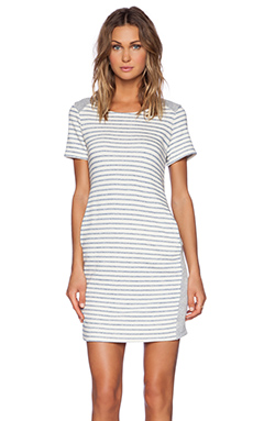 Splendid West Shore Stripe Dress in Stonewash