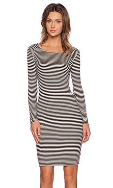 Splendid Belmar Stripe Dress in Almond & Black