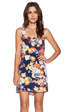 Splendid Splring Blooms Tank Dress in Navy Multi