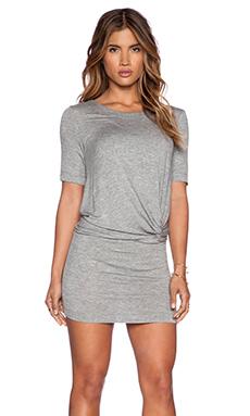 Splendid Twist Front Dress in Heather Grey