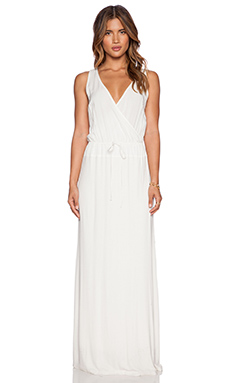 Splendid Rib Mix Maxi Dress in Pearl