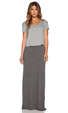 Splendid Y Back Maxi Dress in Heather Grey