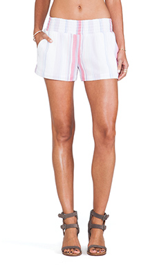 Splendid Canyondale Stripe Short in Flamingo & Blush