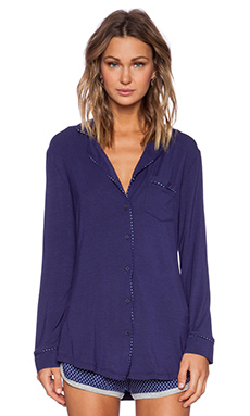 Splendid Menswear Piped Sleepshirt in Astral Aura