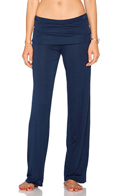 Splendid Fold Over Pant in Black Iris