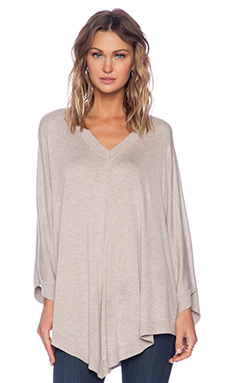 Splendid Cashmere Blend Poncho in Toast