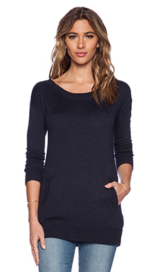Splendid Cashmere Blend Sweater in Heather Navy