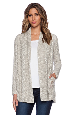Splendid Seaside Loose Knit Cardigan in Ash