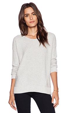Splendid Marled Stitch Sweater in Heather Grey