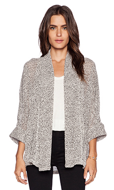 Splendid Jungle Boucle Cardigan in Pearl