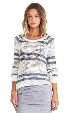 Splendid Striped Knit Sweater in Cream Combo