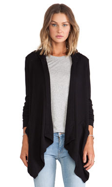 Splendid Thermal Cardigan in Black