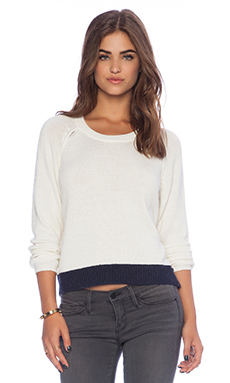 Splendid Adlerwood Colorblock Sweater in Cream & Navy