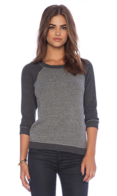 Splendid Masyn Sparkle 5 Thread Pullover in Heather Grey