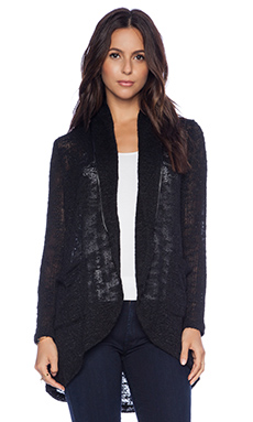 Splendid Hudson Melange Knit Cardigan in Black