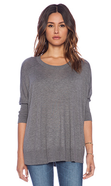 Splendid Cashmere Blend Sweater in Charcoal