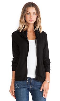 Splendid Zip Hoodie in Black