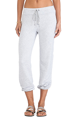 Splendid Soft Melange French Terry Sweatpant in Heather Grey