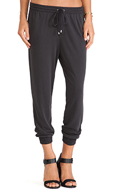 Splendid Sandwash Jersey Pant in Black