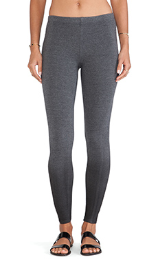 Splendid Coated French Terry Legging in Charcoal
