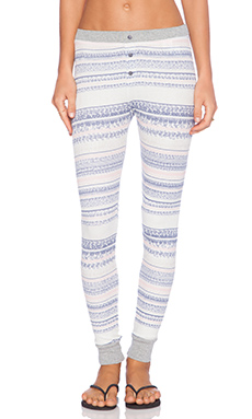 Splendid Bowery Street Thermal Leggings in Pearl